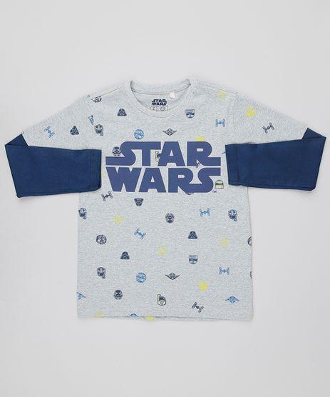 Camiseta-Infantil-Star-Wars-Estampada-Manga-Longa-Decote-Careca-Cinza-Mescla-9614219-Cinza_Mescla_1