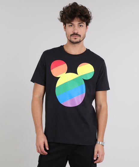 Camiseta-Masculina-Pride-Mickey-Arco-Iris-Manga-Curta-Gola-Careca-Preta-9585822-Preto_1