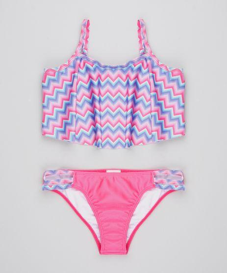 Biquini-Infantil-Estampado-Chevron-com-Babado-Protecao-UV50--Pink-9530654-Pink_1