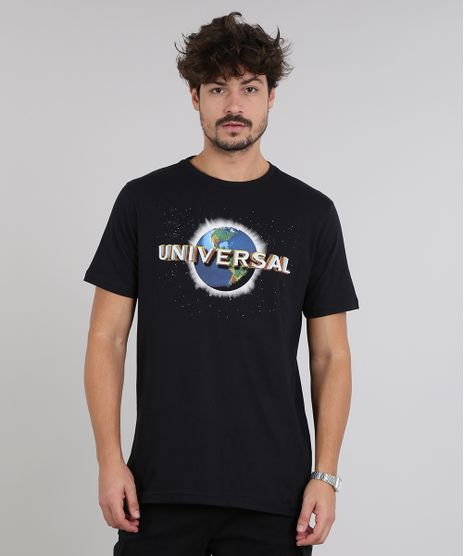 Camiseta-Masculina-Universal-Studios-Manga-Curta-Gola-Careca-Preta-9591408-Preto_1