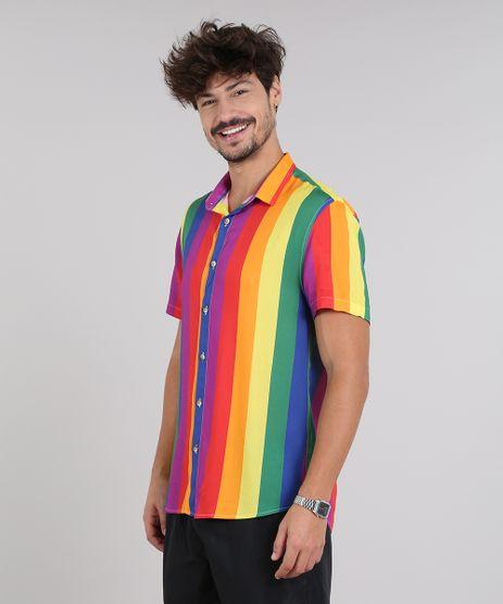 Camisa-Masculina-Pride-Listrada-Arco-Iris-Manga-Curta-Amarela-9580135-Amarelo_1