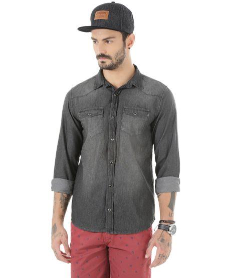 4def0e38a3 Camisa Jeans! em Moda Masculina C A de R 60