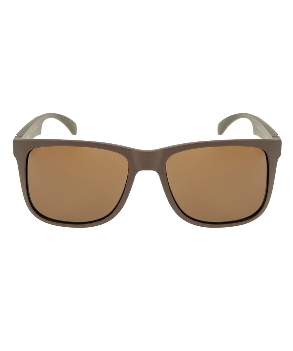 ea79b56c0a9a1 Óculos de Sol Quadrado Masculino Oneself Marrom - Único