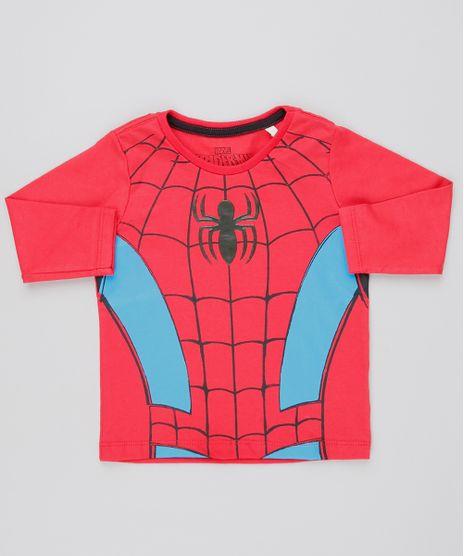 Camiseta-Infantil-Estampada-Homem-Aranha-Manga-Longa-Vermelho-9609034-Vermelho_1