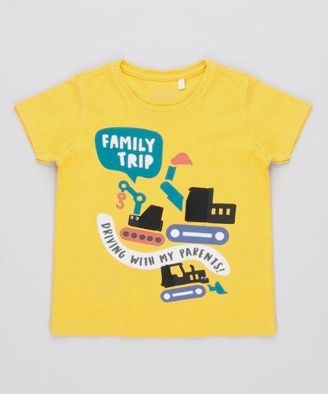 Camiseta-Infantil-com-Estampa-Interativa-de-Carros-Manga-Longa-Mostarda-9530789-Mostarda_1