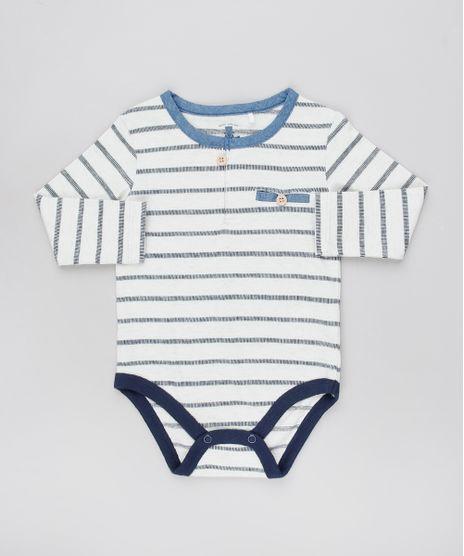 Body-Infantil-Listrado-com-Botoes-Manga-Longa-Cinza-Mescla-Claro-9451003-Cinza_Mescla_Claro_1