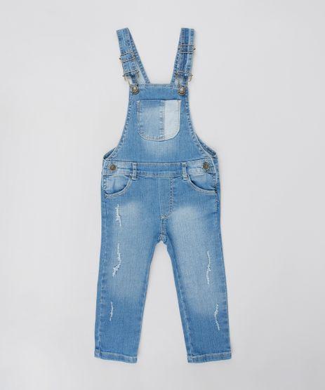 Macacao-Jeans-Infantil-com-Puidos-e-Bolsos-Azul-Claro-9418158-Azul_Claro_1
