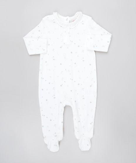 Macacao-Infantil-Estampado-com-Renda-Manga-Longa-Branco-9450989-Branco_1