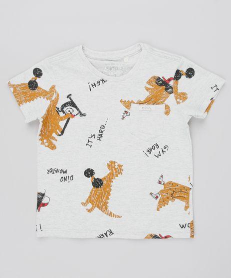 Camiseta-Infantil-Estampada-Dinossauro-com-Bolso-Manga-Curta-Cinza-Mescla-Claro-9532556-Cinza_Mescla_Claro_1