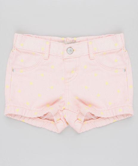 Short-de-Sarja-Infantil-Estampado-de-Estrelas-Rose-9557947-Rose_1