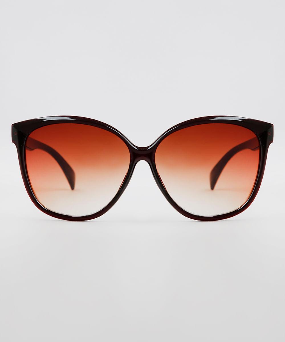 7d95d577a ... Oculos-de-Sol-Redondo-Feminino-Oneself-Marrom-9636170-