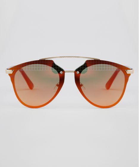 9a6861ab1 Oculos-de-Sol-Redondo-Feminino-Oneself-Dourado-9631563- ...