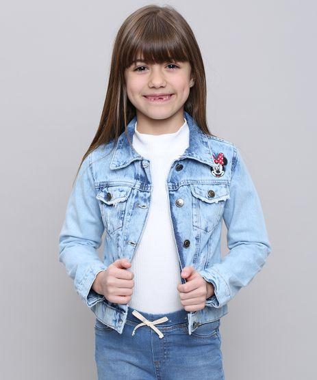 Jaqueta-Jeans-Infantil-Minnie-com-Puidos-Azul-Claro-9449489-Azul_Claro_1
