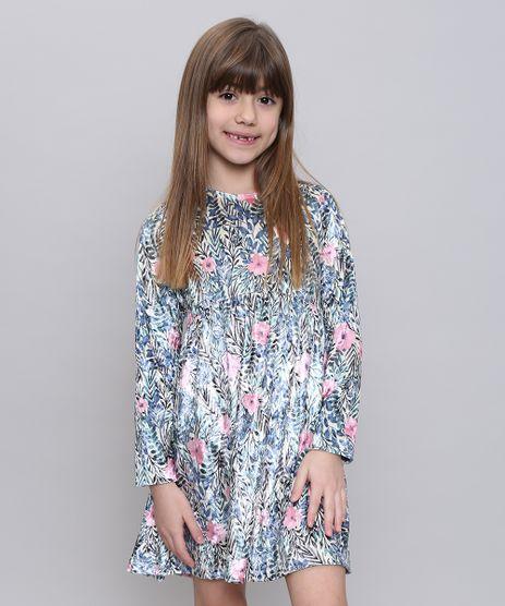 Vestido-Infantil-Estampado-Floral-em-Veludo-Manga-Longa-Amarelo-Claro-9537310-Amarelo_Claro_1