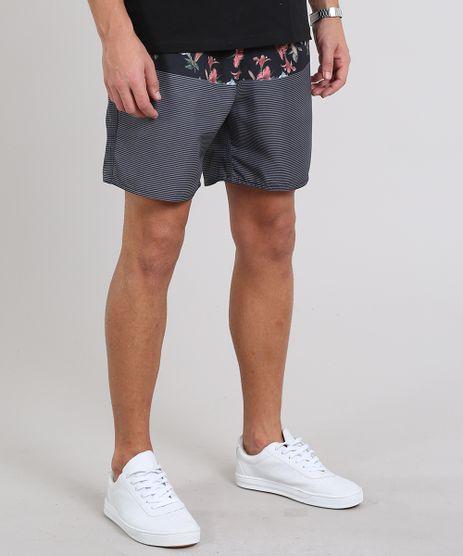Short-Masculino-Estampado-com-Bolsos-Preto-9535127-Preto_1