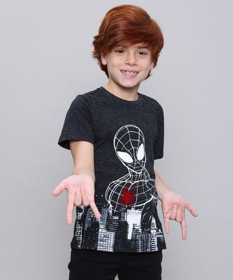 Camiseta-Infantil-Homem-Aranha-Manga-Curta--Chumbo-9557643-Chumbo_1