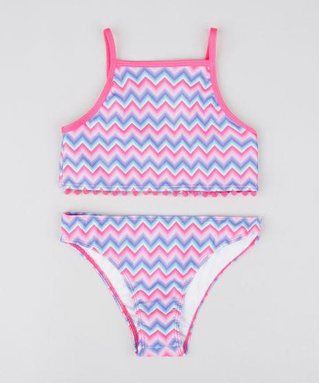 Biquini-Infantil-Estampado-Chevron-com-Protecao-UV50--Pink-9530651-Pink_1