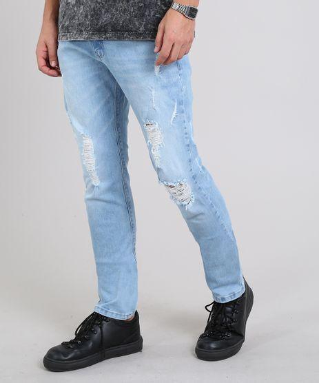 Calca-Jeans-Masculina-Slim-com-Rasgos-Azul-Claro-9602634-Azul_Claro_1