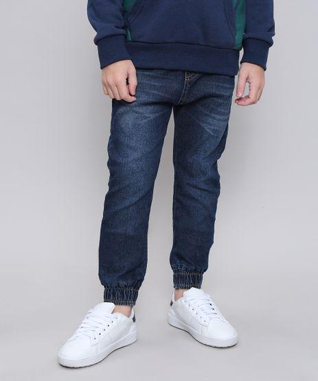 Calca-Jeans-Infantil-Jogger-com-Bolsos-Azul-Escuro-9549515-Azul_Escuro_1