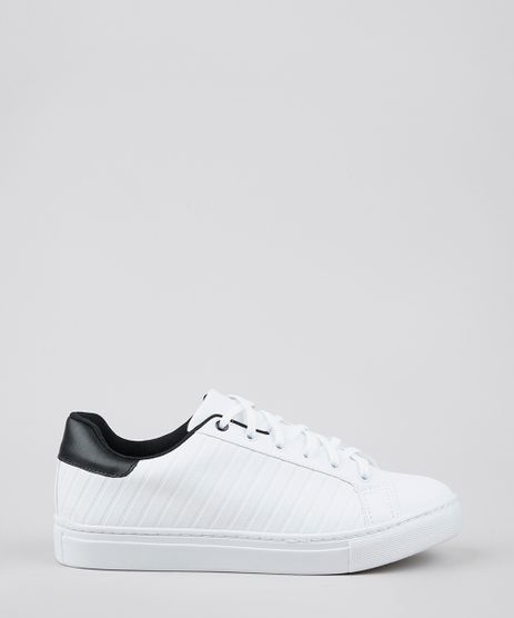 Tenis-Masculino-com-Textura-e-Recorte-Branco-9629112-Branco_1