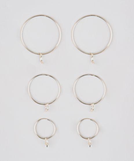Kit-de-3-Brincos-Femininos-de-Argola-Folheados-com-Pingentes-Dourado-9544835-Dourado_1
