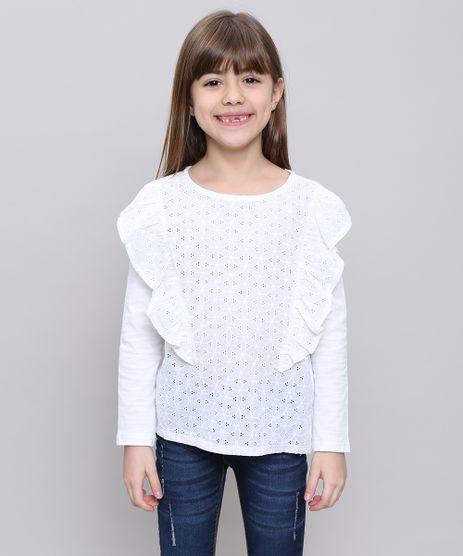 Blusa-Infantil-com-Laise-e-Babado-Manga-Longa-Decote-Redondo-Off-White-9541571-Off_White_1
