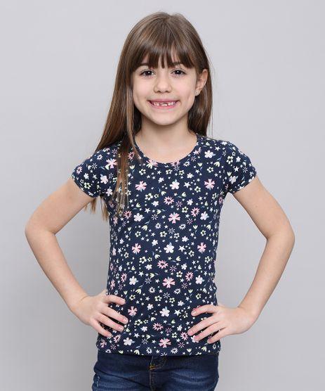 Blusa-Infantil-Estampada-Floral-Manga-Curta--Azul-Marinho-9545320-Azul_Marinho_1