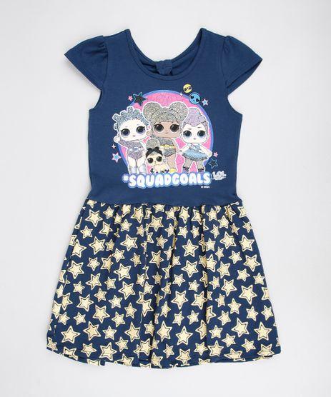 Vestido-Infantil-LOL-Surprise-com-Glitter-Manga-Curta-Azul-Marinho-9585666-Azul_Marinho_1