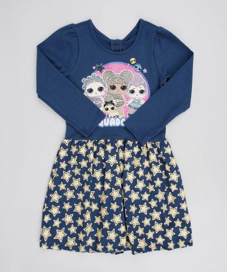 Vestido-Infantil-LOL-Surprise-com-Glitter-Manga-Longa-Azul-Marinho-9585665-Azul_Marinho_1