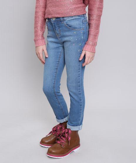 Calca-Jeans-Infantil-com-Bordado-e-Bolsos-Azul-Medio-9554907-Azul_Medio_1