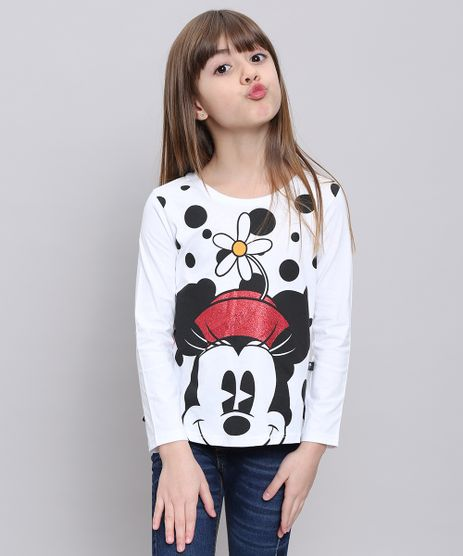 Blusa-Infantil-Minnie-com-Brilho-Manga-Longa-Decote-Redondo-Branca-9547643-Branco_1