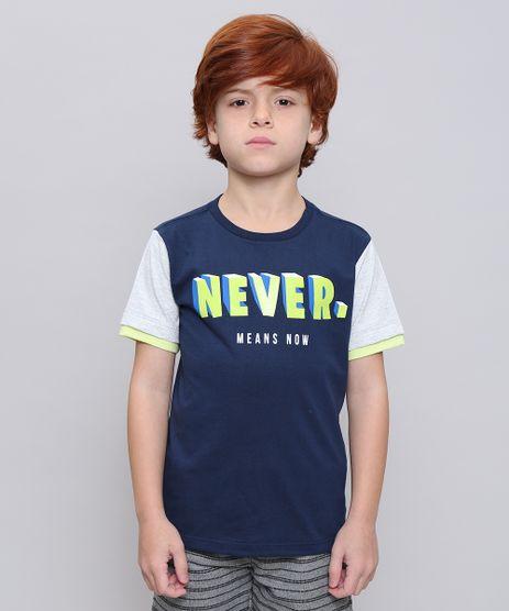 Camiseta-Infantil--Never--Neon-Manga-Curta--Azul-Marinho-9614153-Azul_Marinho_1