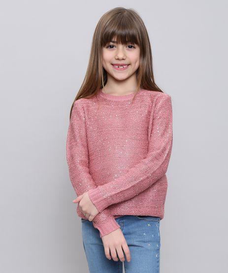 Sueter-Infantil-em-Trico-com-Paetes-Rosa-Escuro-9347626-Rosa_Escuro_1