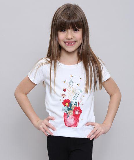Blusa-Infantil-com-Estampa-Floral-e-Pompom-Manga-Curta-Off-White-9552406-Off_White_1