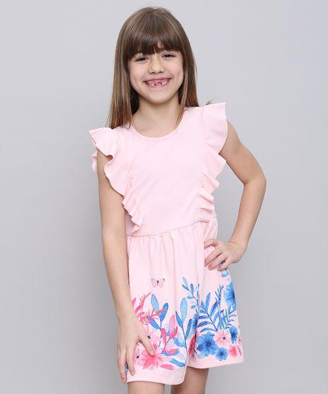 Vestido-Infantil-com-Estampa-Floral-e-Babado-Sem-Manga--Rosa-Claro-9585659-Rosa_Claro_1