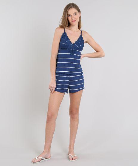 Short-Doll-Feminino-Listrado-com-Renda-Alca-Fina-Azul-Marinho-9548257-Azul_Marinho_1