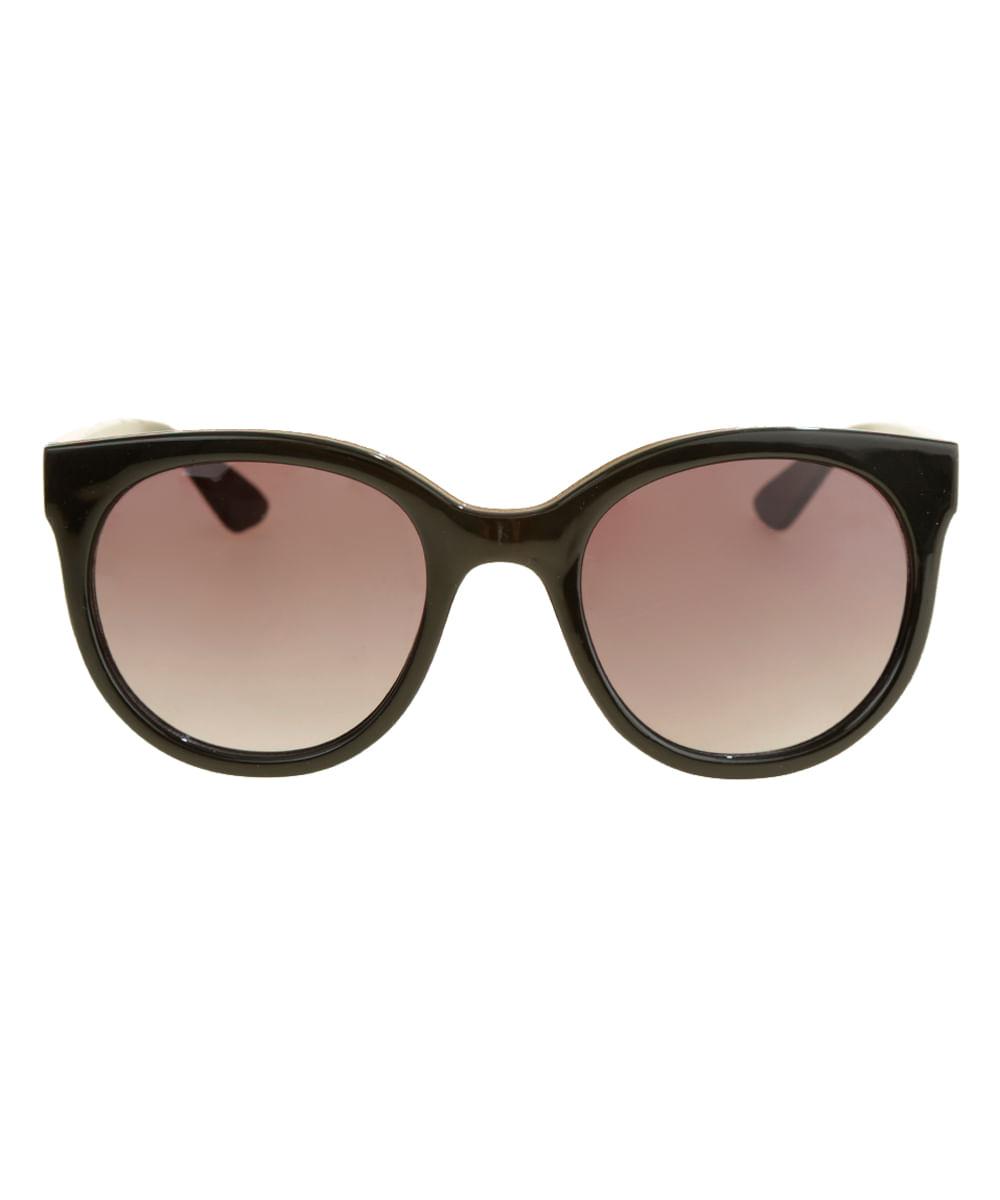 99b7cd6273 Óculos de Sol Redondo Feminino Oneself Preto - ceacollections