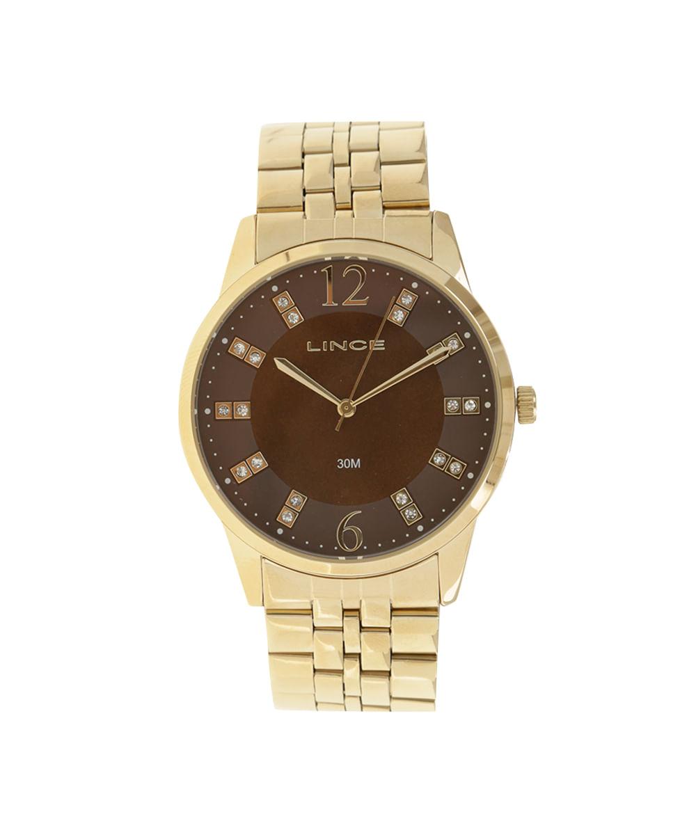 ec34120afc3 Relógio Lince Analógico Feminino - LRGJ044L-N2KX Dourado - cea