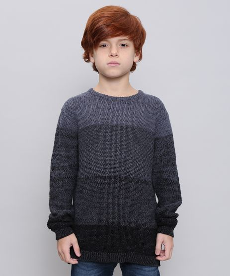 Sueter-Infantil-em-Trico--Cinza-Mescla-Escuro-9368830-Cinza_Mescla_Escuro_1