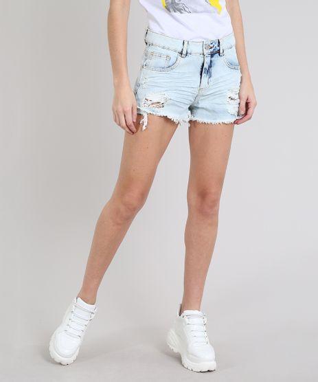 Short-Jeans-Feminino-Boy-Destroyed-com-Barra-Desfiada-Azul-Claro-9303184-Azul_Claro_1