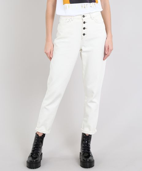 Calca-Jeans-Feminina-Mom-com-Botoes-Off-White-9594586-Off_White_1