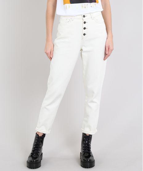 Calca-Jeans-Feminina-Mom-com-Botoes-Off-White-9594586-Off_White_1