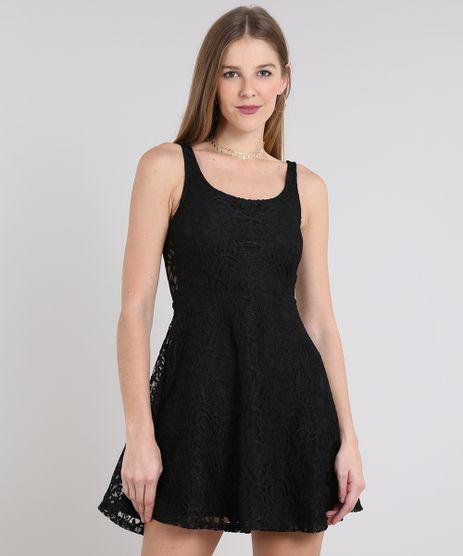 Vestido-Feminino-Curto-Evase-em-Renda-Alca-Larga-Preto-9645046-Preto_1