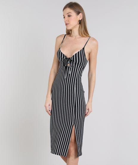 Vestido-Feminino-Midi-Listrado-com-Vazado-Alca-Fina-Branco-9439864-Branco_1