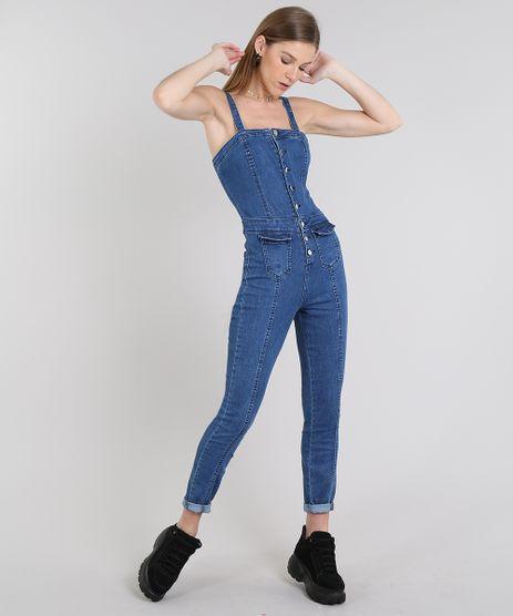 Macacao-Jeans-Feminino-Com-Botoes-Alcas-Medias-Azul-Escuro-9594634-Azul_Escuro_1