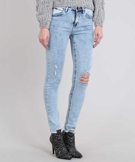 Calca-Jeans-Feminina-Skinny-com-Rasgos-Azul-Medio-9588884-Azul_Medio_1