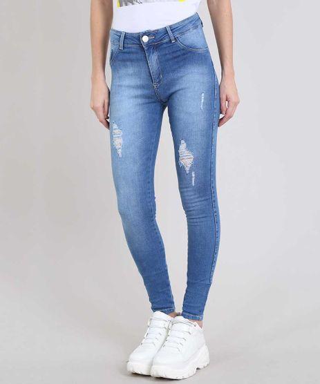 Calca-Jeans-Feminina-Sawary-Skinny-com-Rasgos-Azul-Medio-9581061-Azul_Medio_1