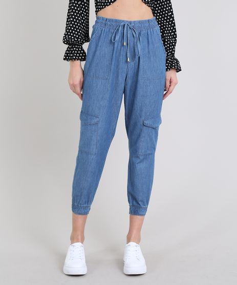 Calca-Jeans-Feminina-Jogger-Cargo-Azul-Claro-9608398-Azul_Claro_1