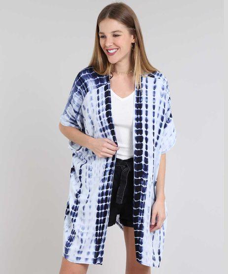 Kimono-Feminino-Longo-Tie-Dye-com-Fendas-Manga-Curta-Azul-Marinho-9635259-Azul_Marinho_1