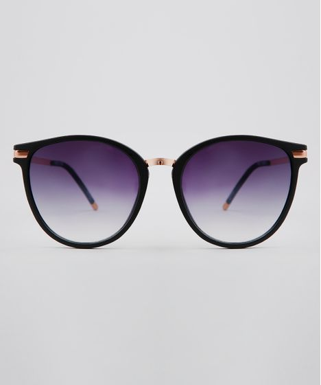 0cff9e20d Oculos-de-Sol-Redondo-Feminino-Oneself-Preto-9636191- ...
